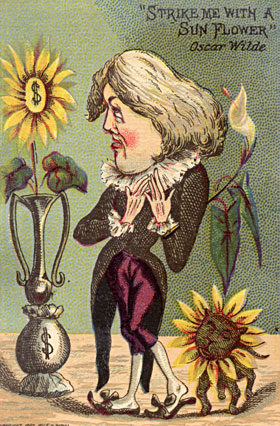 "Trade Card :: '""Strike Me With a Sunflower"" - Oscar Wilde'"